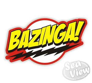 bazinga funny car sticker decal big bang theory sheldon stickers ebay rh ebay co uk  bazinga logo png