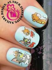 NAIL Art Water Trasferimenti Adesivi decalcomanie Deco Set TOM & JERRY Mouse Figure #464