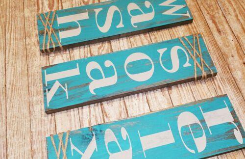 Farmhouse decor signs rustic bath sign Wash soak relax rustic in color