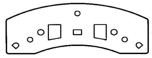 SCD370H FRONT Ceramic Brake Pads Fits 94-99 Chevrolet K1500 SuburbanW//Hardwa