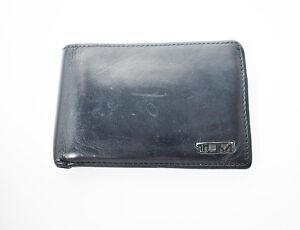 Tumi Leather Card Holder Wallet Black
