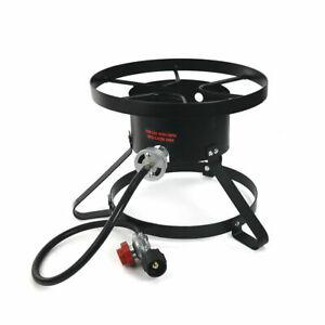 High Pressure Burner Outdoors Cooking Gas Single Propane Stove Hose & Regulator