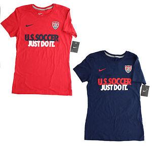 New women 39 s nike us national team soccer just do it t for Nike just do it t shirt women s