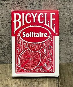 Sealed Box - Vintage Bicycle Solitaire RED Playing Cards - Blue Ohio Seal