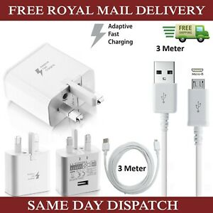 Genuine-Samsung-Fast-Charger-Plug-amp-3M-Micro-USB-Data-Cable-For-Galaxy-Phones-Lot
