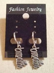 Earrings-with-034-Breathe-034-charm-molded-in-script-lettering