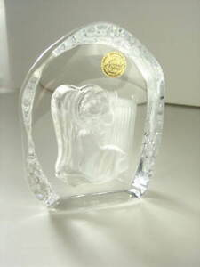 Beautiful-French-Cristal-d-039-Arques-Crystal-Angel-amp-Harp-Christmas-Collection-NEW