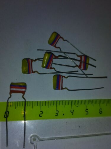 10x Condensateur 4,7 nf 250v fish tropical   NOS       CL7//48h