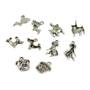 30Pcs-5-Styles-3D-Puppy-Dog-Charms-Zinc-Alloy-Pendant-Jewelry-Finding-Crafts