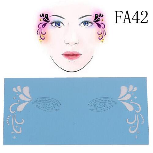 Wiederverwendbare Soft Face Paint Schablone Diy Facial Design Make-up MalvorRSDE
