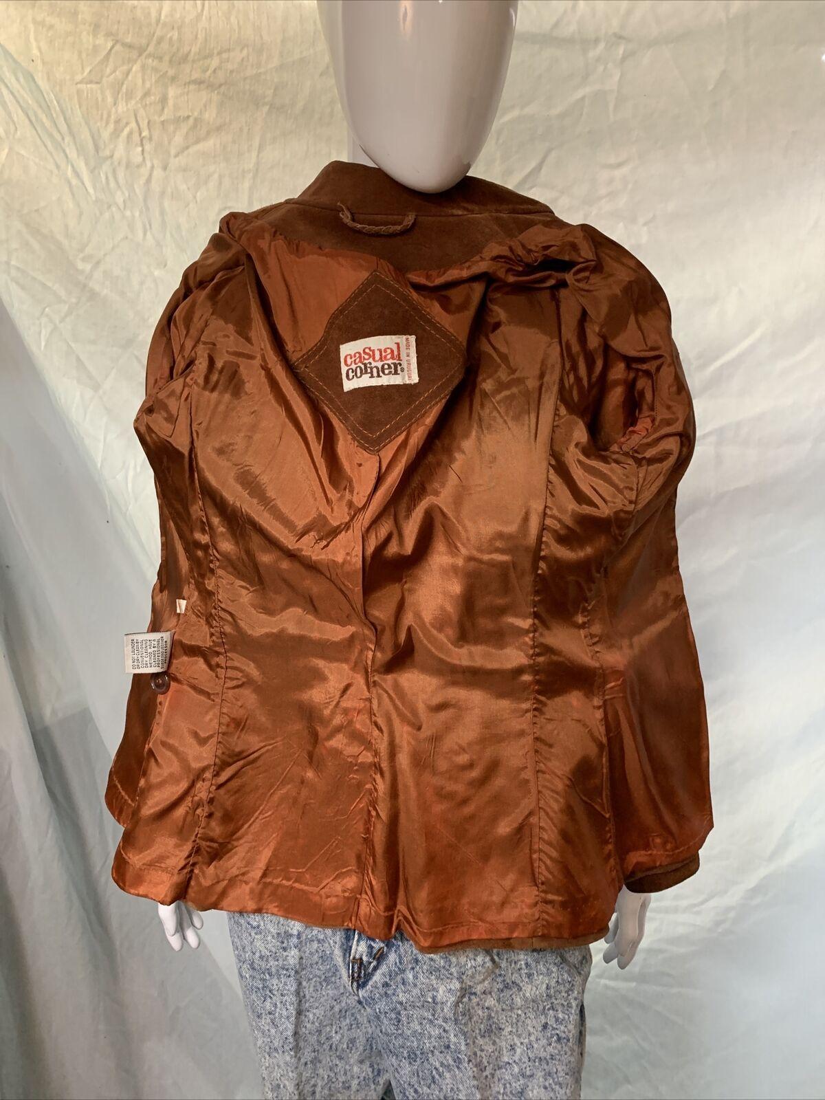 Vintage 1970s Casual Corner Leather Suede Brown J… - image 7