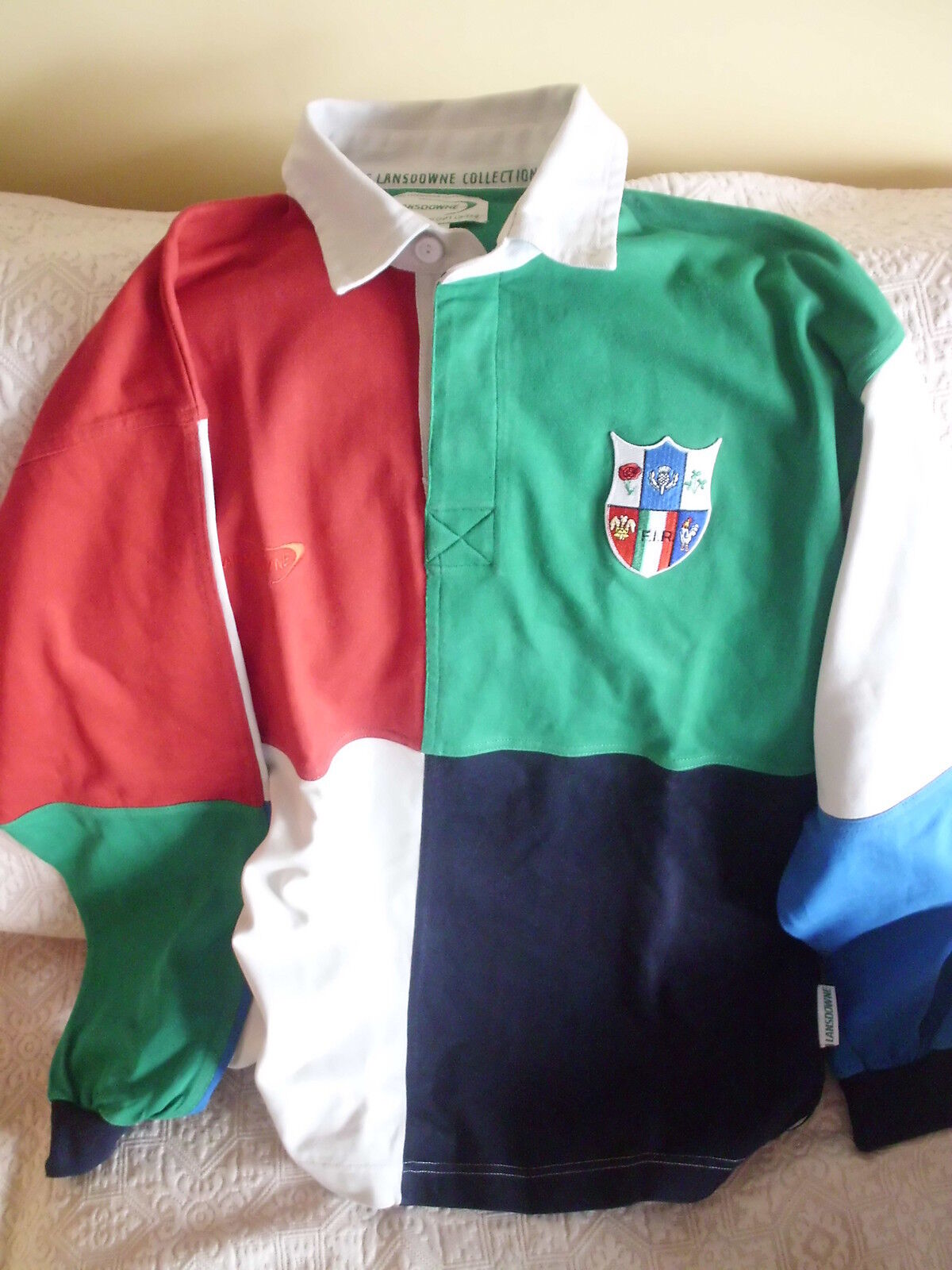 MAGLIA POLO RUGBY TORNEO 6 NAZIONI FEDERAZIONE ITALIANA RUGBY