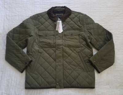 NEW MEN'S L XL J CREW SUSSEX QUILTED JACKET WITH CORDUROY ...