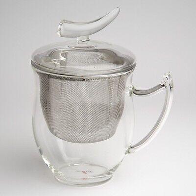 Verre tasse à thé teeglas avec passoire et couvercle Epsilon avec verre-soucoupe
