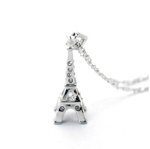 großer Eiffelturm Anhänger Kette Glücksbringer Liebe Frankreich eifelturm