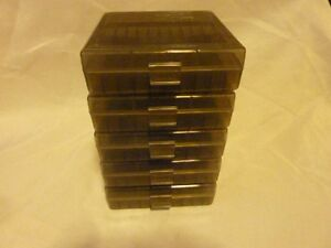 9 mm / 380 Ammo cases / boxes (5 PACK) SMOKE color 500 rnds of storage 9 mm/.380