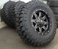 5 17 Fuel Hostage Black Wheels Jeep Wrangler Jk 33 Toyo Mt Tires