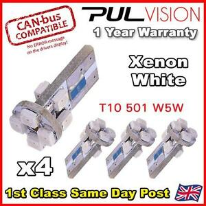 4-x-8-SMD-LED-ERROR-FREE-CANBUS-LED-501-W5W-SIDELIGHT-BULB-White