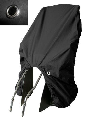 Trockolino sicuro Basic en Noir-pluie protection pour vélo-siège enfant avec œillet