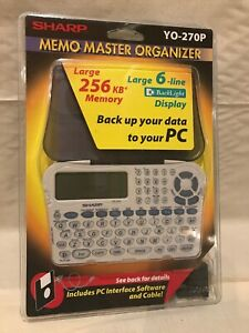 Vintage-Sharp-YO-270P-Memo-Master-Organizer-w-Back-Light-Display-256-KB-Mem