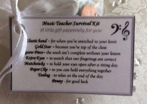 Image Is Loading Birthday Gift For A Music Teacher Survival Kit