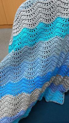 Crochet baby blanket handmade pram crocheted throw new Australian made