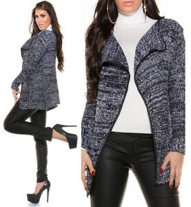 Cardigan-donna-lungo-maglioncino-aperto-maglione-cappottino-pullover-NUOVO