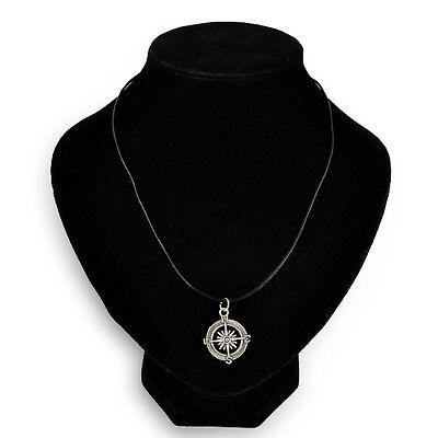 Retro Choker Charm Necklace Pendant Tibetan Silver Boho Black Leather Cord 2015