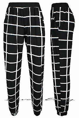 Ladies Black/White Check Pocket