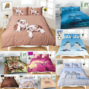 Image Is Loading Duvet Cover Sets 3D Animal Print Bedding Sheets