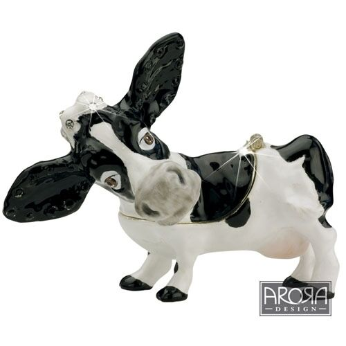 Little Paws Miniatures 3904 Cow Trinket Box
