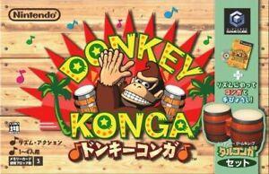 GameCube-Donkey-Konga-orig-Bongo-contrA-leur-jeu-requA-rir-Freeloader-JAP-dans
