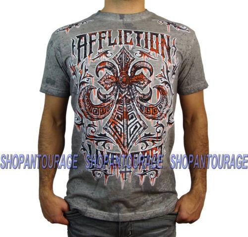 AFFLICTION Tribus Rust A13624 Men`s New Grey T-shirt