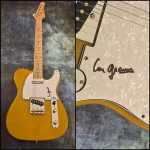 GFA Foreigner Midnight Blue * LOU GRAMM * Signed Electric Tele Guitar COA