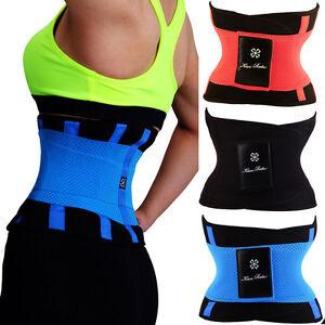 318f854140 Yoga Slim Fit Waist Belt Trimmer Trainer Weight Loss Burn Fat Body ...