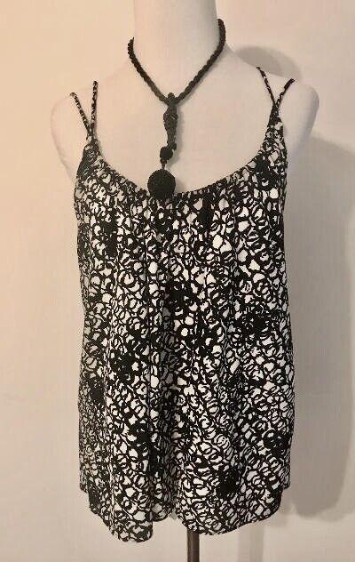 Balenciaga Black and White Silk Multi Strap Camis… - image 11