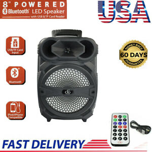 Portable-Party-Speaker-Rechargeable-8-034-USB-Bluetooth-FM-Control-Loud-Bass-New
