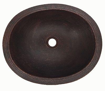 """#01 Mexican Copper Sink drop in Bathroom Sinks 16x13"""" Rio Grande Patina"""