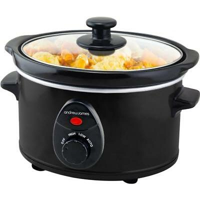 Andrew James Small Slow Cooker   Black   1.5L   120W