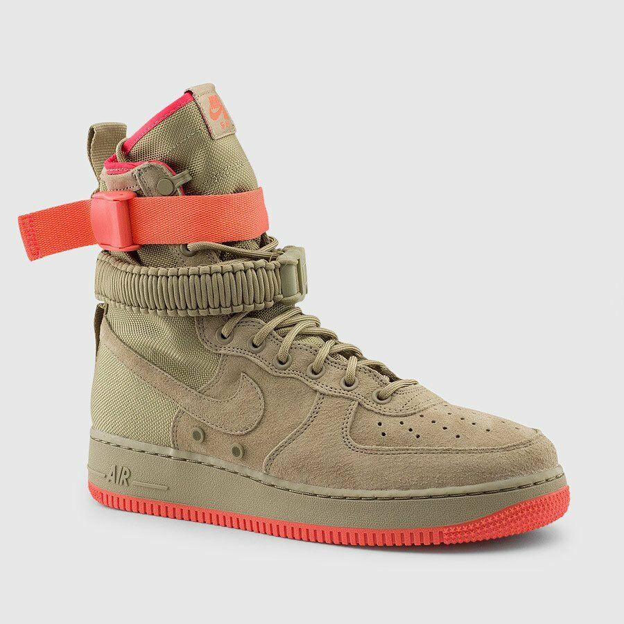 Nike SF Air Force 1 One High Special Field Field Field KHAKI Rush Coral AF1 864024-205 Men 0f7345
