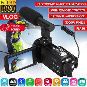 Video-Digital-Camera-Camcorder-Vlogging-Full-HD-1080P-18X-30MP-Touch-YouTube