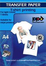 Inkjet Iron On Paper (Transfer Paper) X 10 Sheets £4.89