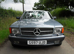 1989 mercedes 500 sec diamond blue w126 420 560 se sel ebay. Black Bedroom Furniture Sets. Home Design Ideas