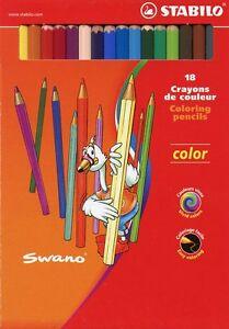 STABILO Swano Color 1918/77 Paquete Cartón 18 Lápices