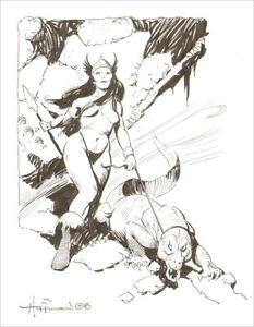 MIKE-HOFFMAN-FANTASY-ART-COMMISSION-INK-DRAWING-You-Choose-the-Scene