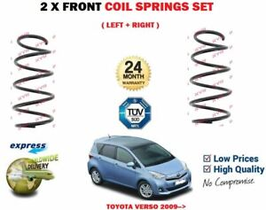 FOR-TOYOTA-VERSO-2-0-2-2-D4D-MPV-2009-gt-2X-FRONT-LEFT-RIGHT-COIL-SPRINGS-SET