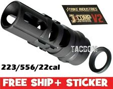 Strike Industries J-COMP V2 Japan 89 Comp Muzzle brake 5.56/22lr/223 1/2x28 TPI