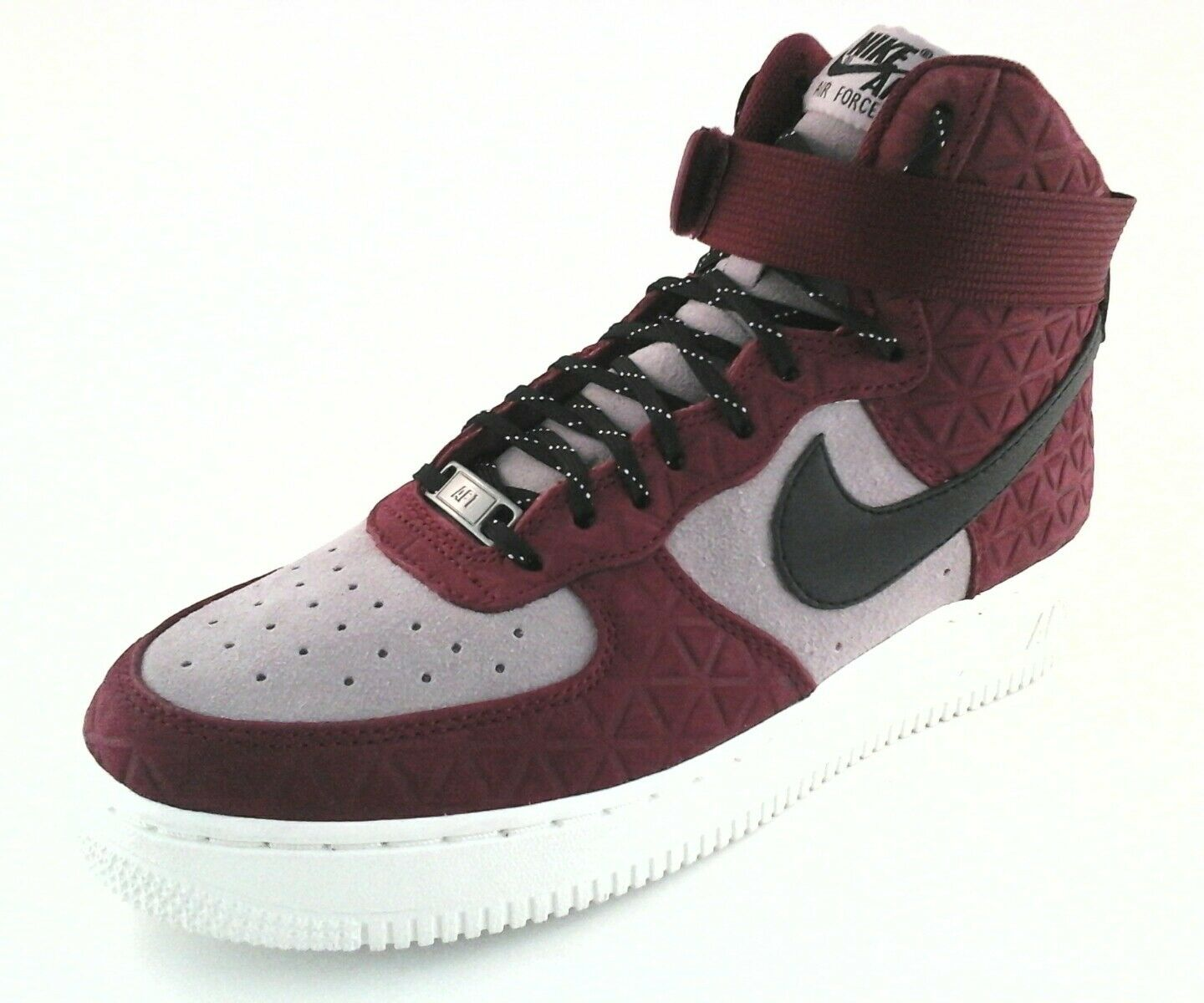 NIKE AIR FORCE 1 Sneakers High Top Shoes Maroon/Black/Plum Women's US 8.5  Brand discount