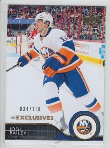 2014-15-UD-SERIES-EXCLUSIVES-JOSH-BAILEY-100-PARALLEL-123-Upper-Deck-Islanders