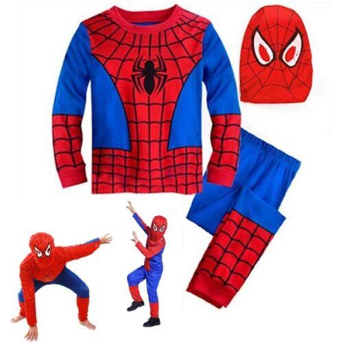 Kids Boys Superhero Spiderman Masquerade Props Costume Cosplay Fancy Dress